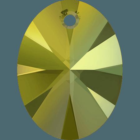 Swarovski 6028 - XILION Oval, CR Iridescent Green
