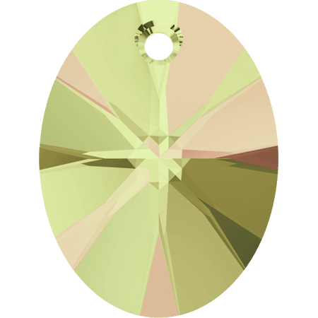 Swarovski 6028 - XILION Oval, CR Luminous Green