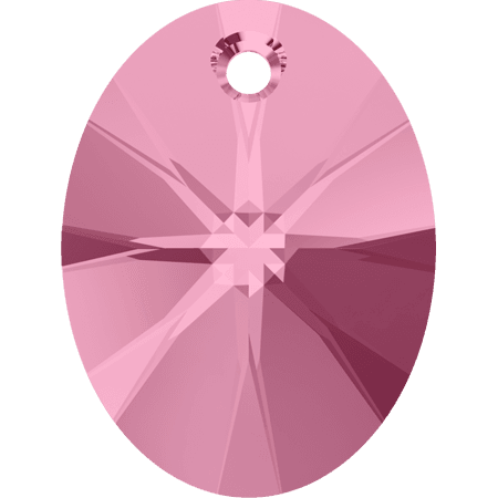 Swarovski 6028 - XILION Oval, Light Rose