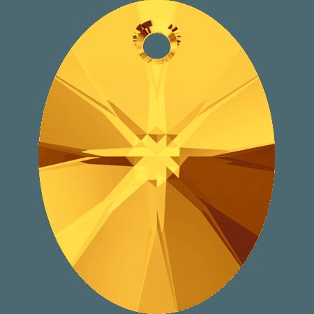Swarovski 6028 - XILION Oval, Sunflower