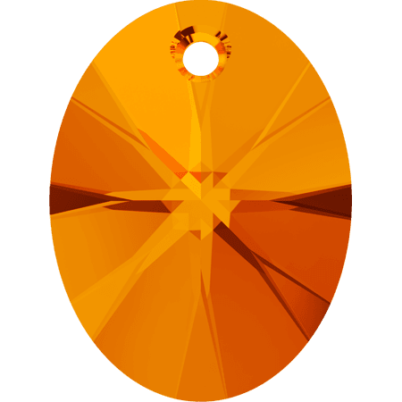 Swarovski 6028 - XILION Oval, Tangerine