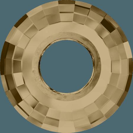 Swarovski 6039 - Disk, CR Golden Shadow