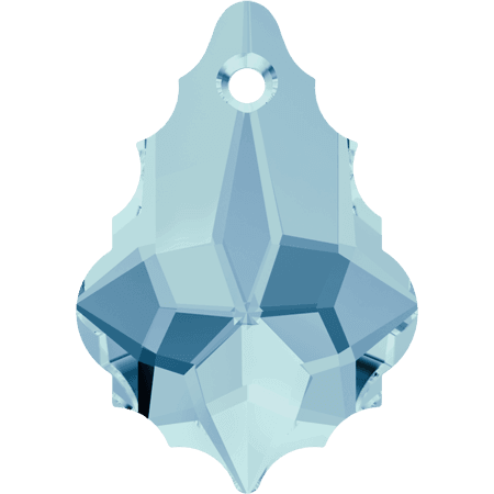 Swarovski 6090 - Baroque, Aquamarine