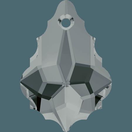 Swarovski 6090 - Baroque, Black Diamond