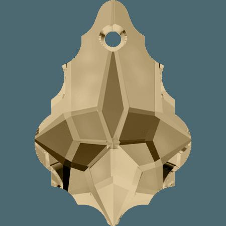 Swarovski 6090 - Baroque, CR Golden Shadow