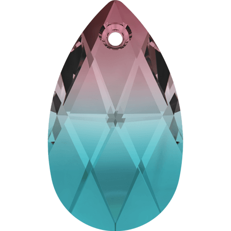 Swarovski 6106 - Pear-shaped, Burgundy - Blue Zircon Blend