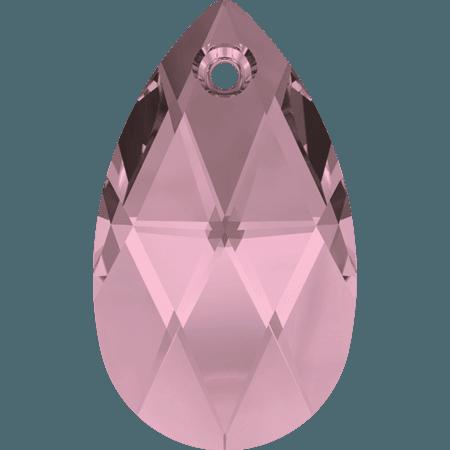 Swarovski 6106 - Pear-shaped, CR Antique Pink