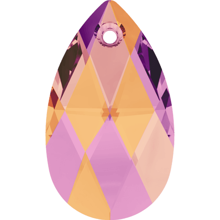 Swarovski 6106 - Pear-shaped, CR Astral Pink