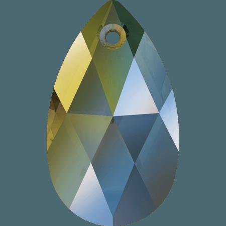 Swarovski 6106 - Pear-shaped, CR Iridescent Green