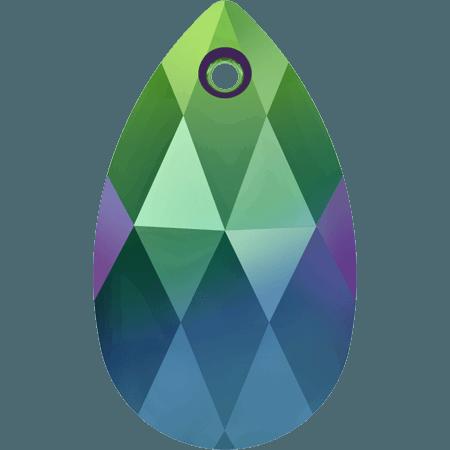 Swarovski 6106 - Pear-shaped, CR Scarabaeus Green