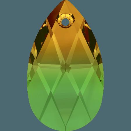 Swarovski 6106 - Pear-shaped, Fern Green - Topaz Blend