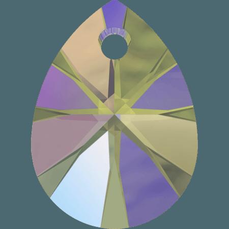 Swarovski 6128 - XILION Mini Pear, CR Paradise Shine