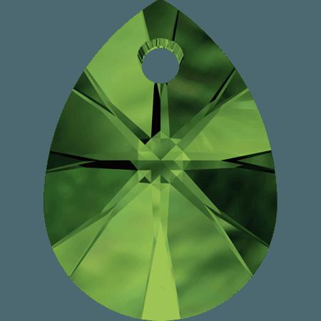 Swarovski 6128 - XILION Mini Pear, Dark Moss Green