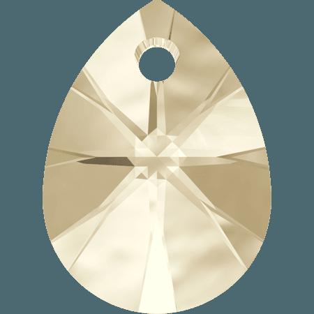 Swarovski 6128 - XILION Mini Pear, Light Silk