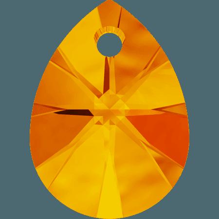Swarovski 6128 - XILION Mini Pear, Tangerine
