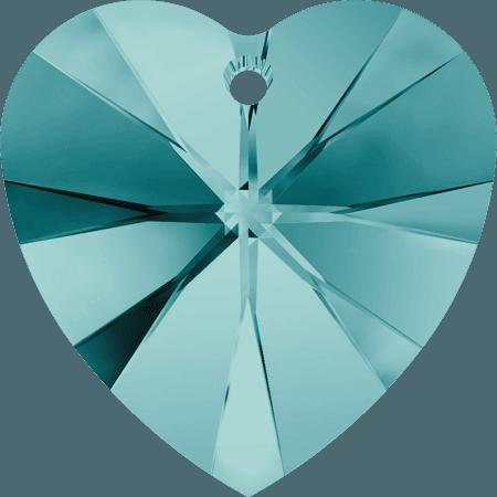 Swarovski 6228 - XILION Heart, Blue Zircon