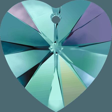 Swarovski 6228 - XILION Heart, Blue Zircon AB