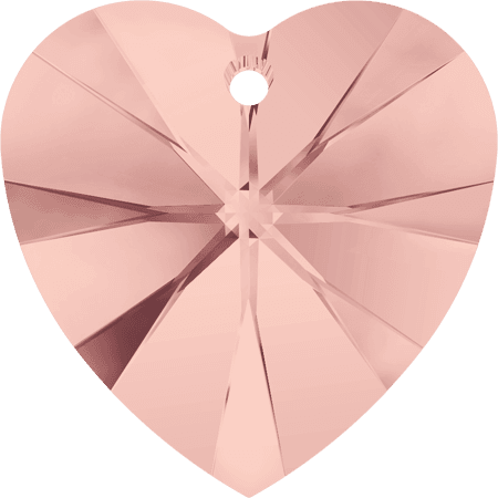 Swarovski 6228 - XILION Heart, Blush Rose