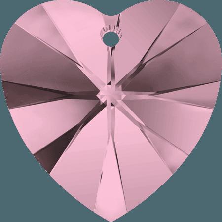 Swarovski 6228 - XILION Heart, CR Antique Pink
