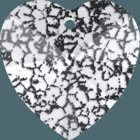 Swarovski 6228 - XILION Heart, CR Black Patina