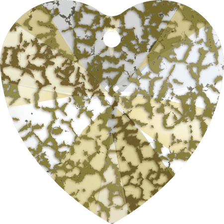 Swarovski 6228 - XILION Heart, CR Gold Patina