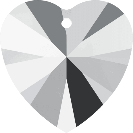 Swarovski 6228 - XILION Heart, CR Light Chrom