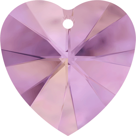 Swarovski 6228 - XILION Heart, CR Lilac Shadow