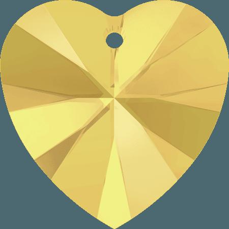 Swarovski 6228 - XILION Heart, CR Metallic Sunshine