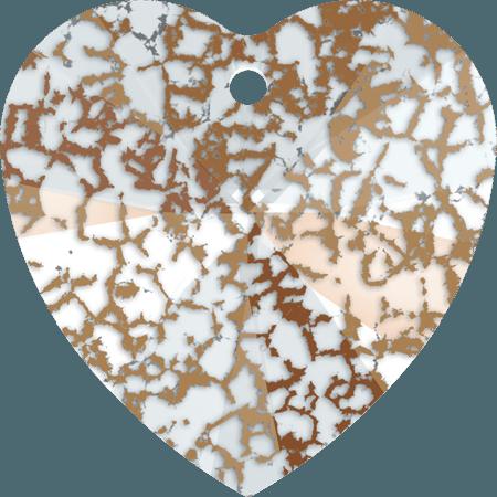 Swarovski 6228 - XILION Heart, CR Rose Patina