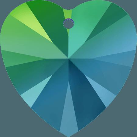 Swarovski 6228 - XILION Heart, CR Scarabaeus Green