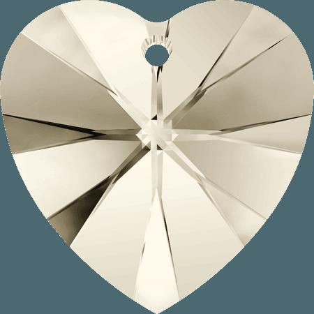 Swarovski 6228 - XILION Heart, CR Silver Shade