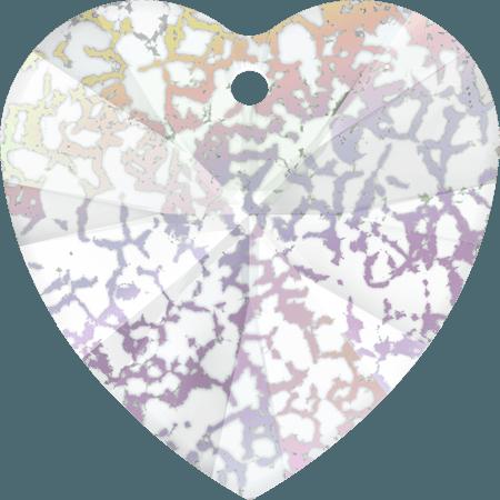 Swarovski 6228 - XILION Heart, CR White Patina