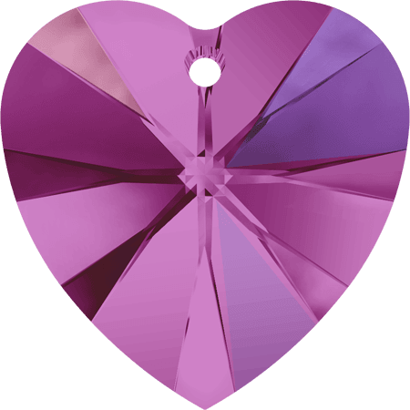 Swarovski 6228 - XILION Heart, Fuchsia AB
