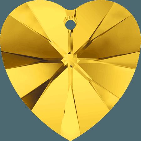 Swarovski 6228 - XILION Heart, Light Topaz