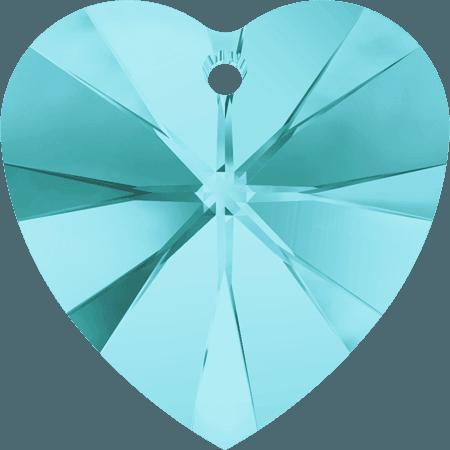 Swarovski 6228 - XILION Heart, Light Turquoise