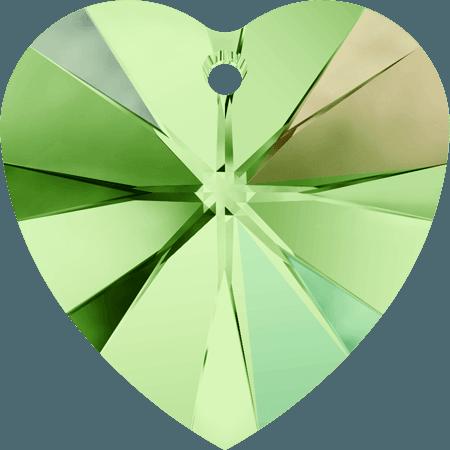Swarovski 6228 - XILION Heart, Peridot AB