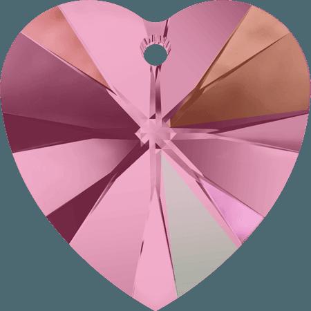 Swarovski 6228 - XILION Heart, Light Rose AB
