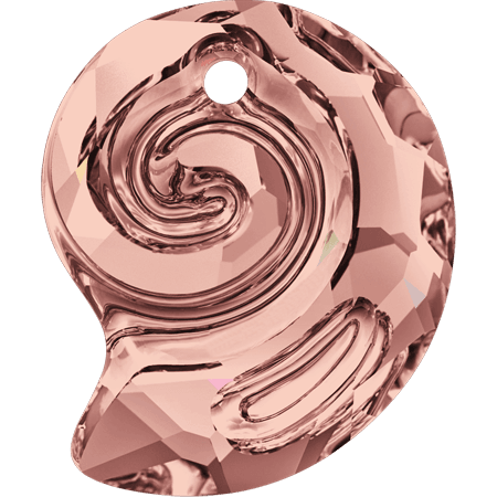 Swarovski 6731- Sea Snail partly frosted, Blush Rose