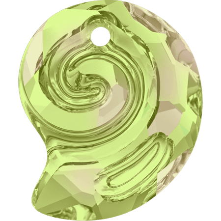 Swarovski 6731- Sea Snail partly frosted, CR Luminous Green