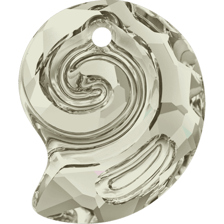 Swarovski 6731- Sea Snail partly frosted, CR Silver Shade