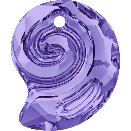 Swarovski 6731- Sea Snail partly frosted, Tanzanite