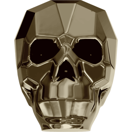 Swarovski 5750 - Skull, CR Metallic Light Gold 2x