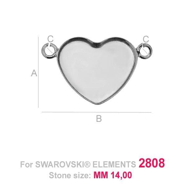 Swarovski 2808, Heart