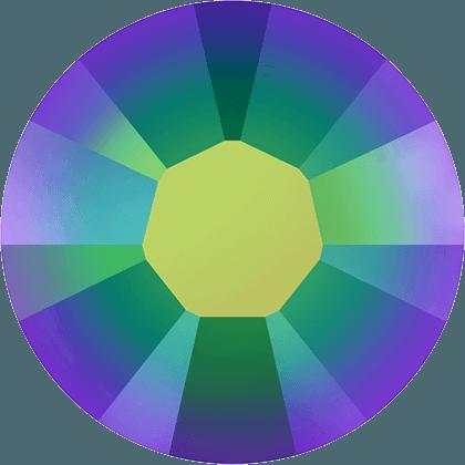 Swarovski 2038 - XILION Rose, Hotfix, Crystal Scarabaeus Green