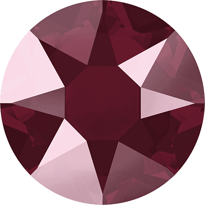 Swarovski 2078 - XIRIUS Rose, Hotfix, Crystal Dark Red
