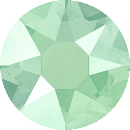 Swarovski 2078 - XIRIUS Rose, Hotfix, Crystal Mint Green