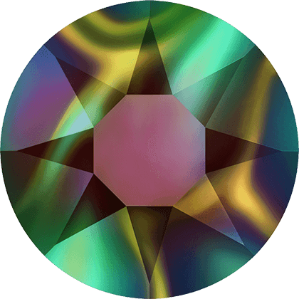 Swarovski 2078 - XIRIUS Rose, Hotfix, Crystal Rainbow Dark
