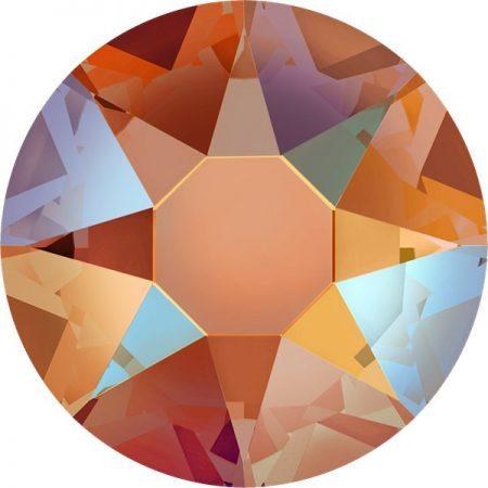 Swarovski 2078 - XIRIUS Rose, Hotfix, Tangerine Shimmer