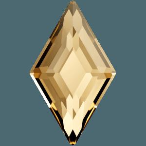 Swarovski 2773 - Diamond Shape, Hotfix - Crystal Golden Shadow