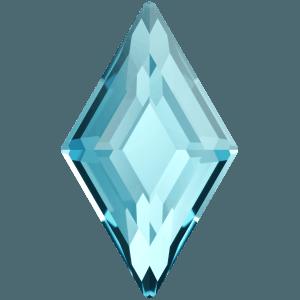 Swarovski 2773 - Diamond Shape, Hotfix - Aquamarine